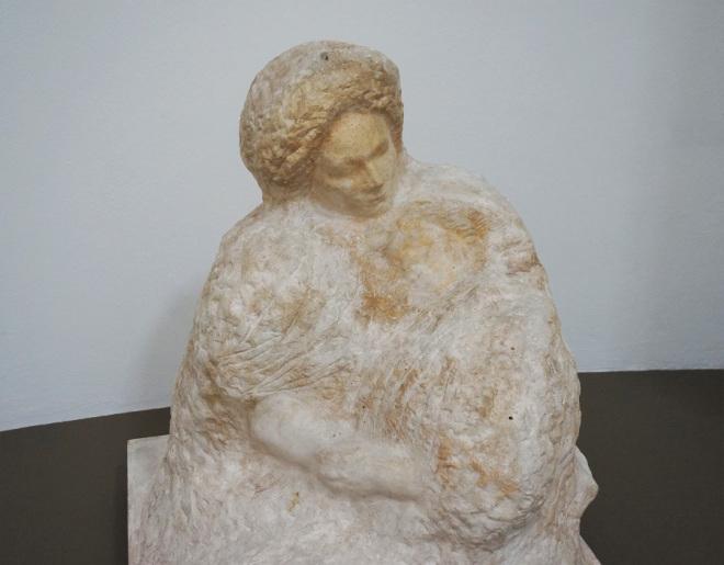 """A. Rodin, """"Matka i umierająca córka"""", niedatowany"""