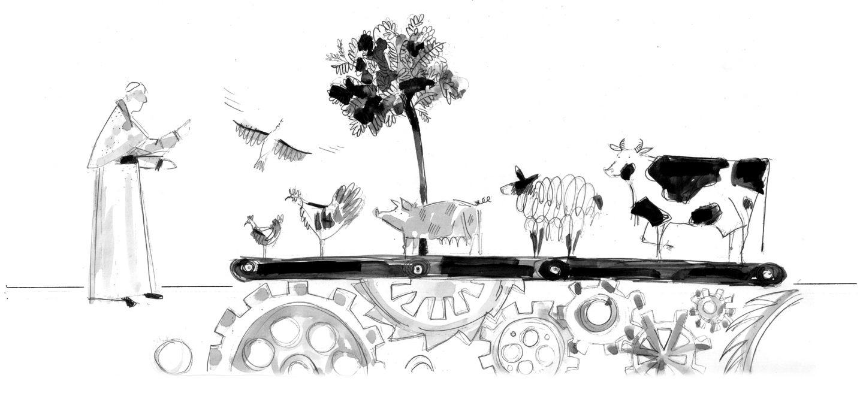 Zwierzęta na papieskim stole