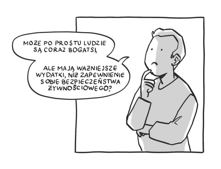 Komiks: Mniej ubogich, więcej głodnych?