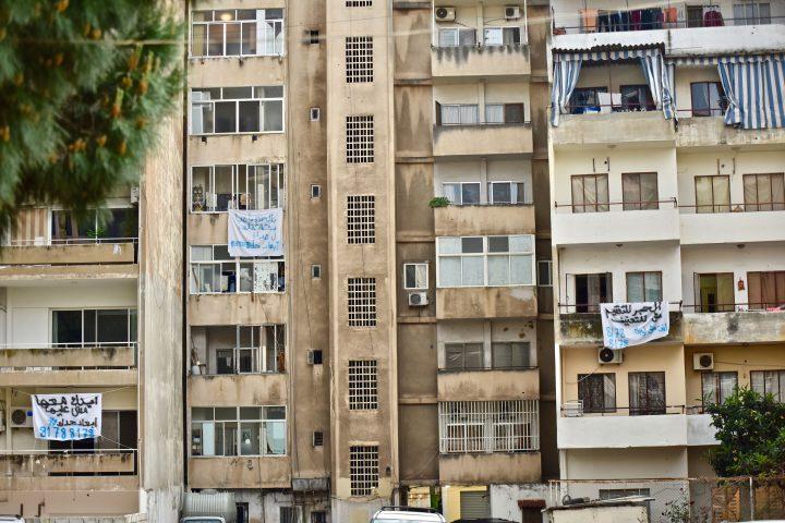 "Akcja zinicjatywy organizacji Abaad, ""Lock down, not lock up"", 16 kwietnia 2020, Beirut; zdjęcie: Diaa Molaeb / Abaad"