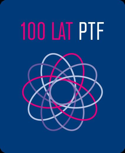 Znak graficzny setnej rocznicy Polskiego Towarzystwa Fizycznego