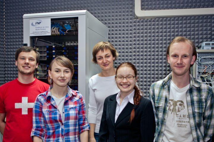Część zespołu badawczego prof.Doroty Rosińskiej stworzonego naUniwersytecie Zielonogórskim
