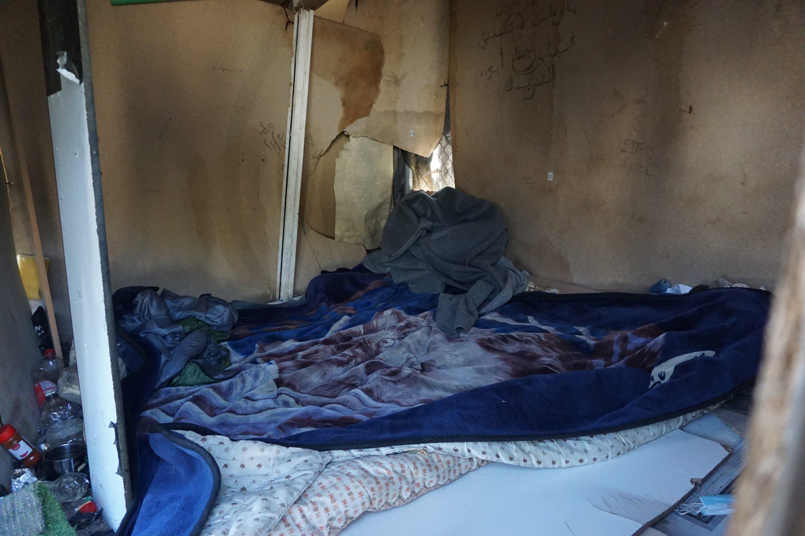 Namiot, któryRezham dzieli zdwoma przyjaciółmi zAfganistanu